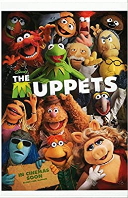 The MUPPETS with Kermit The Frog Miss Piggy Foozie Bear and Gang 11 x 17 Movie Poster Litho