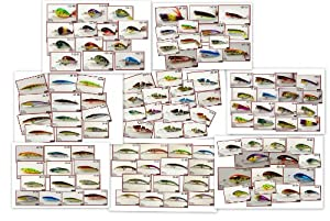 Akuna Bulk Pack 100+ fishing lures crankbaits spoons and spinnerbaits holiday gift... by Akuna