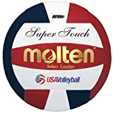 Molten Super Touch Volleyball, Official/Red, White, Blue