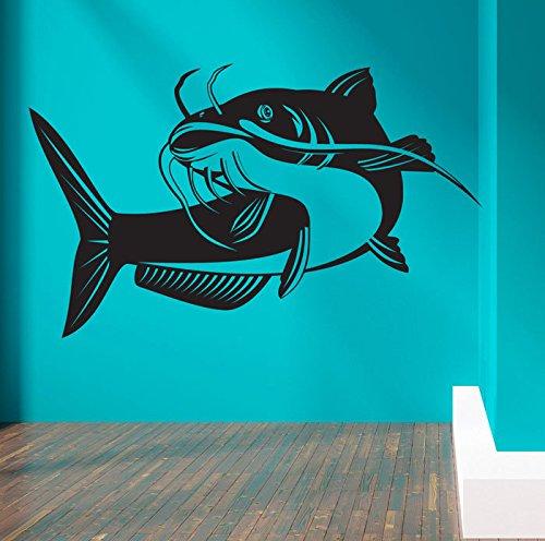 customwallsdesign wels meer fisch wand aufkleber art decor aufkleber poster. Black Bedroom Furniture Sets. Home Design Ideas