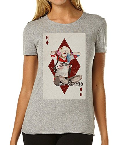 Suicide Squad Harley Quinn Playing Card Fan Art maglietta da donna XX-Large