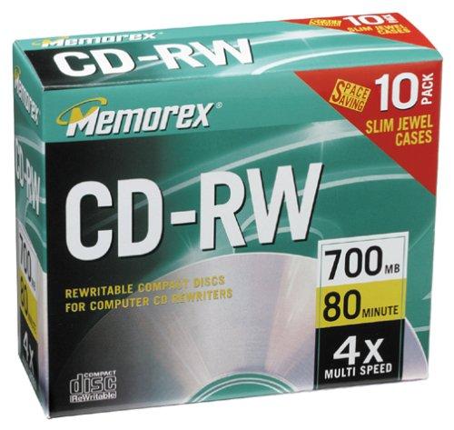 Memorex – 10 x CD-RW – 700 MB ( 80min ) – storage media