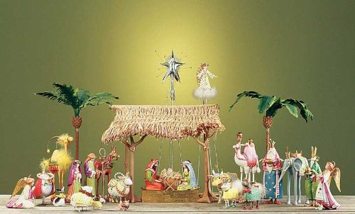 29-Piece Patience Brewster Krinkles Christmas Nativity Set with Figures