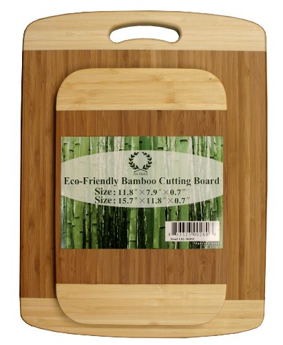 Da Vinci Natural Bamboo 2-Piece Cutting Board Set – 0.7″ Thick