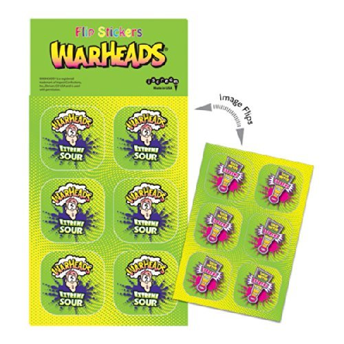 iscream Warheads Animated Sticker Pack - 1
