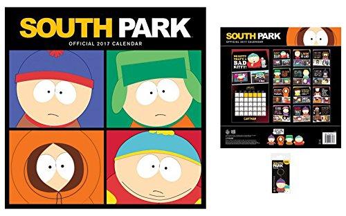 Set: South Park, Calendario Ufficiale 2017 (30x30 cm) E 1x Portachiave (6x4 cm)