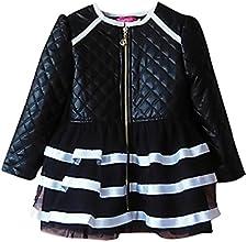 Pupik Girls Stylish Faux Leather Zipped Lace Decoration Jacket Autumn Fashion