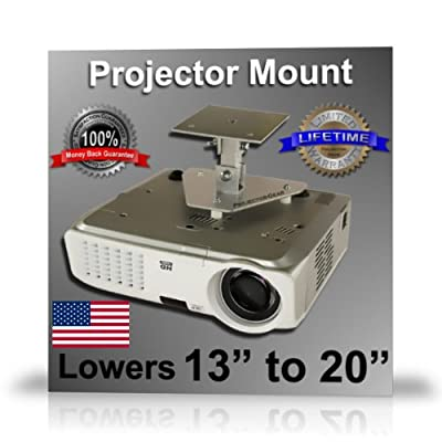 Projector-Gear Projector Ceiling Mount for TOSHIBA TLP-S40U with 13 to 20 Extension