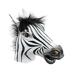 Zebra Mask (Rubber Masks) - Male - One Size