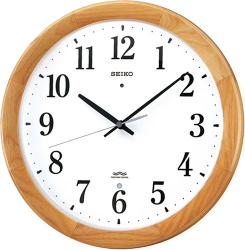 SEIKO CLOCK (セイコークロック) 掛け時計 電波時計 ツイン・パ 木枠 KX311B