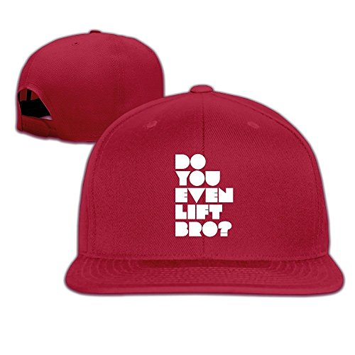 [Runy Custom Do You Even Lift Bro Adjustable Baseball Hat & Cap Red] (City Mouse Costume)