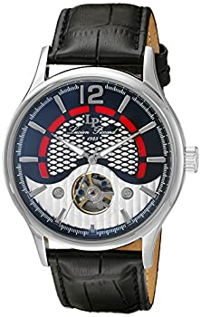 buy Lucien Piccard Men'S 'Transway' Automatic Stainless Steel And Black Leather Casual Watch (Model: Lp-15038-01)