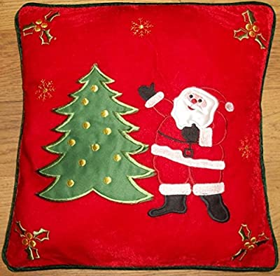 Novelty Christmas Santa & Christmas Tree Cushion Cover