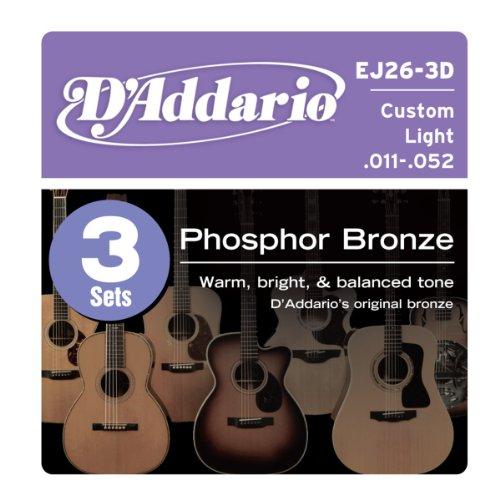 D'Addario EJ26-3D Phosphor Bronze Acoustic Guitar