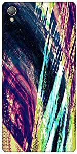 Snoogg Abstract Paint Designer Protective Back Case Cover For Sony Xperia Z3