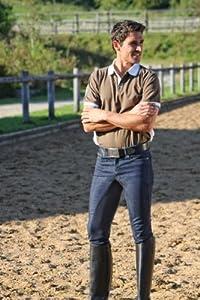 Covalliero - Pantalones vaqueros de equitación para hombre azul denim Talla:48