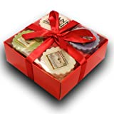 Yankee Candle - 12 Potpourri Wax Tart Branded Gift Box Set (Incl. 3x Fluffy Towels, 3x Garden Sweet Pea, 3x Vanilla Lime & 3x Strawberry Buttercream) in a Branded Yankee Candle Red Gift Box with Red Tissue Paper & Red Ribbon