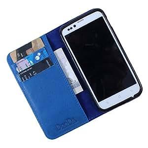 Dooda Genuine Leather Wallet Flip Case For Nokia Lumia 620 (BLUE)