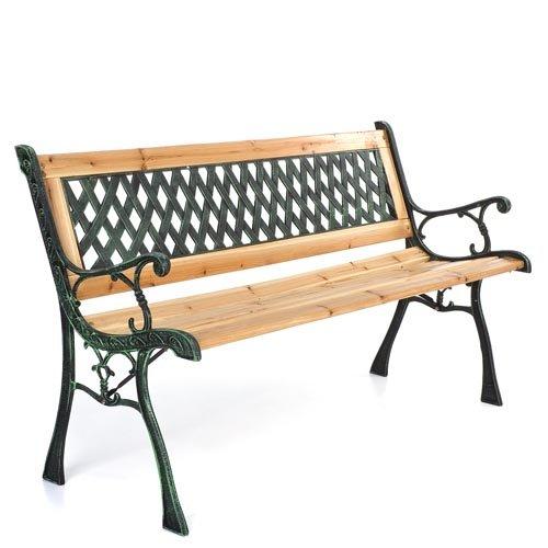 Homelux Gartenbank GB23 aus Gusseisen mit Geflechtdesign ca. 54 / 74 / 122 cm (B/H/L) online bestellen