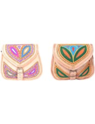 Aryan Exports Girls' Sling Bag (Multi-Colour, Set Of 2, Abc_606)