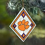 Clemson Tigers Stained Glass Ornament