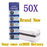 Big Bargain NEW 50 CR2032 3V LITHIUM BUTTON CELL BATTERY FOR SONY