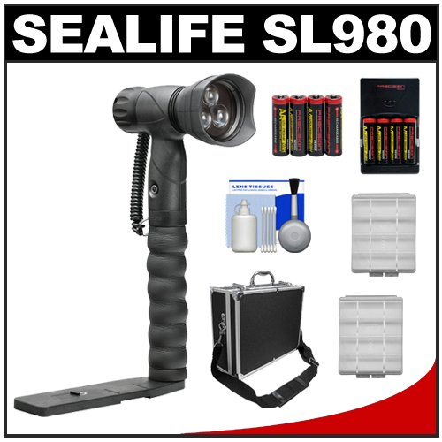 $$  SeaLife SL980 Underwater Photo/Video LED Light Waterproof up to 330 ft. (100m) with Arm Bracket with Case + Batteries & Charger + Kit