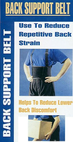 Back Brace Support Weight Lifting Belt w/ Suspenders ~ Large Size(38