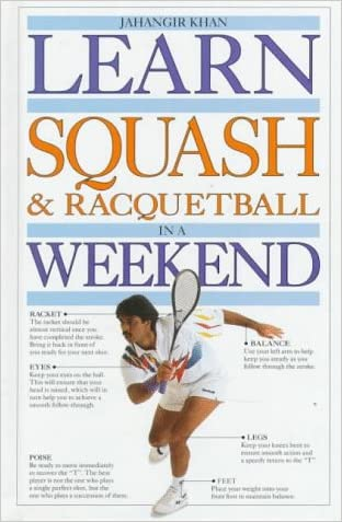 Learn Squash and Racquetball in a Weekend (Learn in a Weekend Series) written by Jahangir Khan