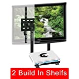 Mount World 1024D LED TV Wall Mount with build in 2 tier shelf of Cable Box DVD Player Stereo Components for Samsung... by Mount World