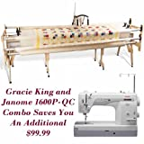 Janome 1600P-QC and Grace Gracie King Machine Quilter Combo