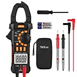 Digital Clamp Meter, 6000 Counts Tacklife CM05 Clamp Multimeters, AC/DC Voltage Tester, AC Current Detector, AC Signal Frequency, VFC, NCV, Resistor, Capacitor, Diode, Duty Cycle, Continuity Tester