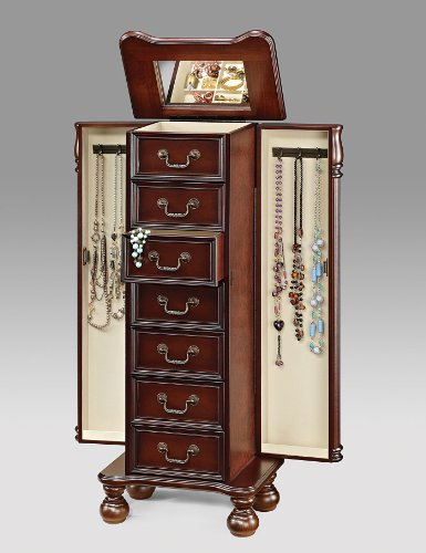 Acme Acme 97006 Lopez Jewelry Armoire, Cherry Finish