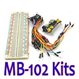 Sunkee MB-102 MB102 Solderless Breadboard Power Supply Module Jumper cable Kits for Arduino Project