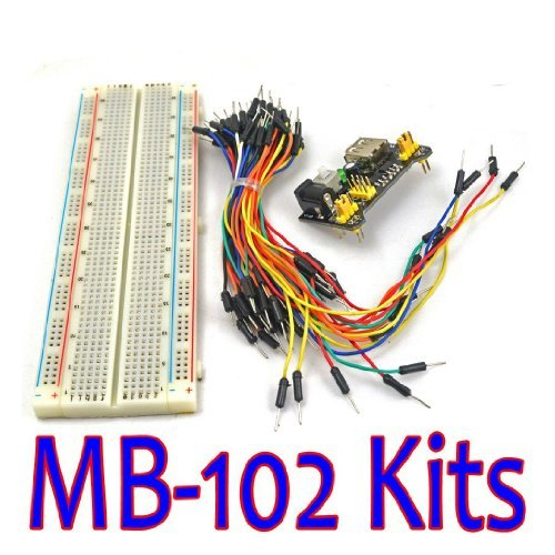 Mb-102 Mb102 Solderless Breadboard Power Supply Module Jumper Cable Kits For Arduino Project