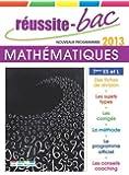 Réussite-Bac 2013 Mathématiques Term ES et L spéc.