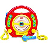 Kids Portable Sing Along CD, MP3, USB & AUX Player, with 2 Microphones, Anti-skip Protection