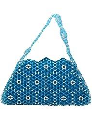 Virali Rao Women's Hand-held Bag, Blue And White