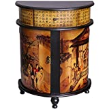 Oriental Furniture Family Gathering Round Front Cabinet