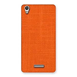Stylish Orange Texture Squary Back Case Cover for Lava-Pixel-V1