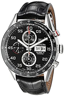 buy Tag Heuer Men'S Cv2A1R.Fc6235 Analog Display Swiss Automatic Black Watch