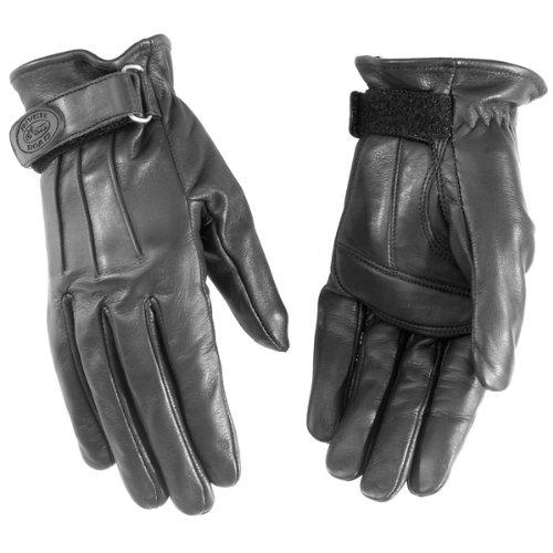 River Road Laredo Leather Gloves (MEDIUM) (BLACK)