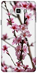 The Racoon Lean pink flower bough hard plastic printed back case / cover for Samsung Galaxy A7