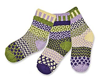 Solmate Socks - Mismatched Kids socks; A pair with a spare; Kids Caterpillar Large