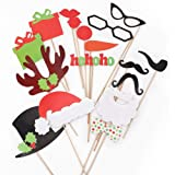 17PCS Colorful Props On A Stick Mustache Photo Booth Party Fun Wedding Christmas Birthday Valentine Favor
