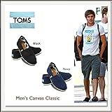 TOMS shoes MENS CANVAS CLASSICS(トムスシューズ メンズキャンパスクラシック)[黒/紺][エスパドリーユ][スリッポン] (US10.0(約28.0cm), 黒)