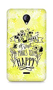 AMEZ do more of what makes you happy Back Cover For Micromax Unite 2 A106