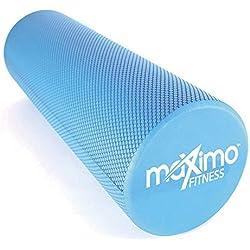 MAXIMO EVA FOAM ROLLER - 15cm * 44cm - Leggero - Trigger Point e Rilascio Miofasciale - Fornisce un Deciso ma Confortevole Massaggio Muscolare - Guida Rapida GRATUITA - Perfetto per la Palestra, il Pilates, lo Yoga - Garanzia a Vita 100%!