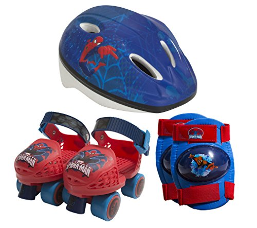 PlayWheels-Spider-Man-Kids-Roller-Skates-with-Knee-Pads-and-Helmet-Junior-Size-6-12