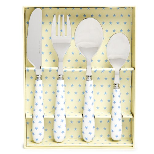 4 Piece Children'S Cutlery Set - Blue Star